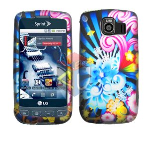 For LG Optimus S / LS-670 Cover Hard Case A-Flower
