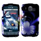 For LG Optimus S / LS-670 Cover Hard Case B-Flower