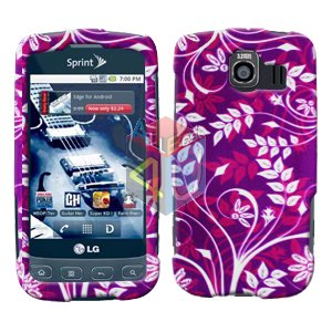 For LG Optimus S / LS-670 Cover Hard Case P-Flower