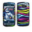 For LG Optimus S / LS-670 Cover Hard Case Rainbow
