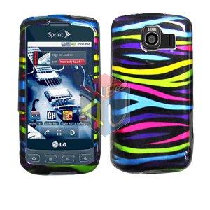 For LG Optimus S / LS-670 Cover Hard Case Rainbow