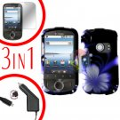 For Huawei Comet U8150 Screen +Car Charger +Hard Case B-Flower 3-in-1