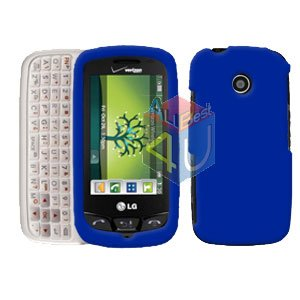 For LG Cosmos Touch VN270 Cover Hard Case Rubberized Blue