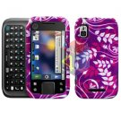 For Motorola Flipside MB508 Cover Hard Case P-Flower