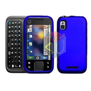 For Motorola Flipside MB508 Cover Hard Case Rubberized Blue