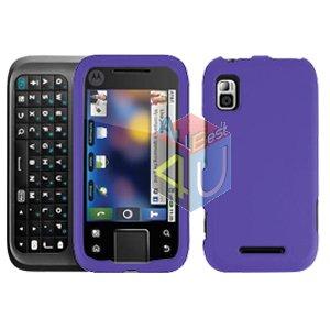 For Motorola Flipside MB508 Cover Hard Case Rubberized Purple
