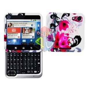 For Motorola Flipout MB511 Cover Hard Case W-Flower