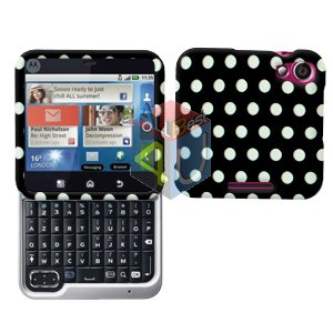 For Motorola Flipout MB511 Cover Hard Case Polka Dot