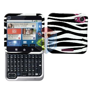 For Motorola Flipout MB511 Cover Hard Case Zebra