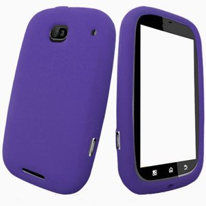 For Motorola Bravo MB520 Silicon cover soft case Purple