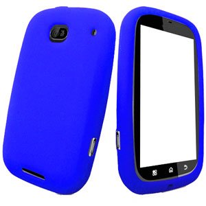For Motorola Bravo MB520 Silicon cover soft case Blue