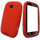 For Motorola Bravo MB520 Silicon cover soft case Red