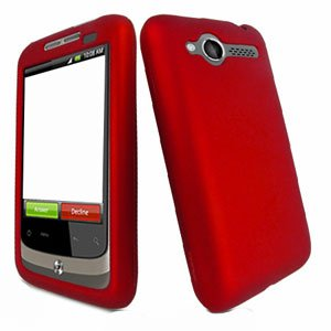 For HTC Wildfire 6225 Cover Hard Case Rubberized Red