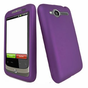 For HTC Wildfire 6225 Cover Hard Case Rubberized Purple