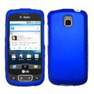 For LG Optimus One P500 Cover Hard Case Rubberized Blue