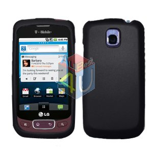 For LG Optimus One P500 Cover Hard Case Rubberized Black