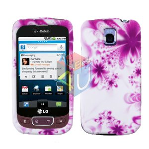 For LG Optimus One P500 Cover Hard Case H-Flower