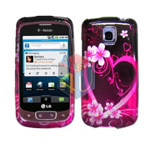 For LG Optimus T / P509 Cover Hard Case Love