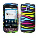 For LG Optimus T / P509 Cover Hard Case Rainbow