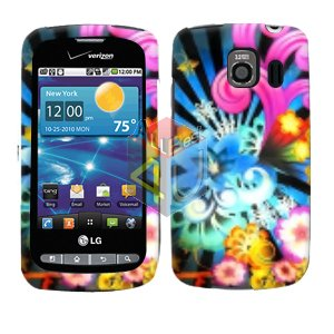 For LG Vortex VS660 Cover Hard Case A-Flower