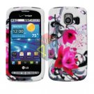 For LG Vortex VS660 Cover Hard Case W-Flower