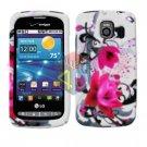 For LG Vortex VS660 Cover Hard Case W-Flower