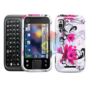 For Motorola Flipside MB508 Cover Hard Case W-Flower