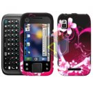 For Motorola Flipside MB508 Cover Hard Case Love