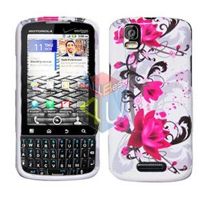 For Motorola Droid Pro A957 Cover Hard Case W-Flower