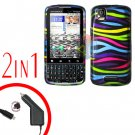 For Motorola Droid Pro A957 Car Charger +Hard Case Rainbow 2-in-1