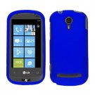 For LG Quantum C900 Cover Hard Case Rubberized Blue