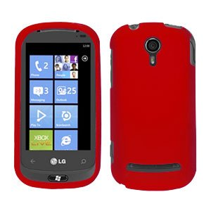 For LG Quantum C900 Cover Hard Case Rubberized Red