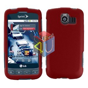 For LG Optimus U US670 Cover Hard Case Rubberized Red