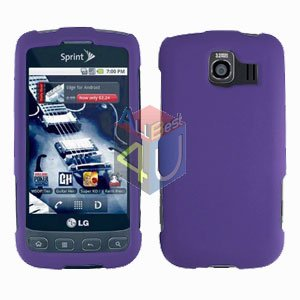 For LG Optimus U US670 Cover Hard Case Rubberized Purple