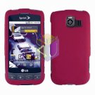 For LG Optimus U US670 Cover Hard Case Rubberized Rose Pink