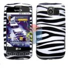 For LG Optimus U US670 Cover Hard Case Zebra