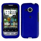 FOR HTC Droid Eris Cover Hard Case Rubberzied Blue