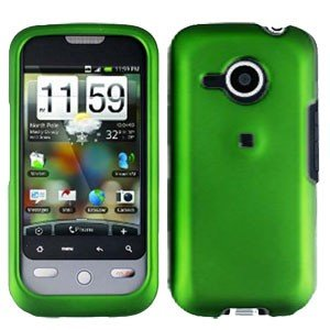 FOR HTC Droid Eris Cover Hard Case Rubberzied Green