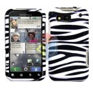 For Motorola Defy MB525 Cover Hard Case Zebra