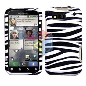 For Motorola Defy MB525 Cover Hard Case Zebra