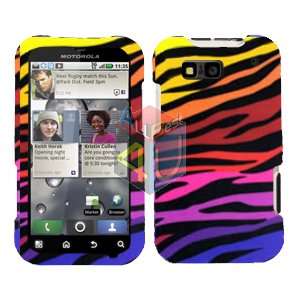 For Motorola Defy MB525 Cover Hard Case C-Zebra
