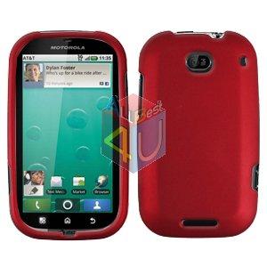 For Motorola Bravo MB520 Cover Hard Case Rubberized Red