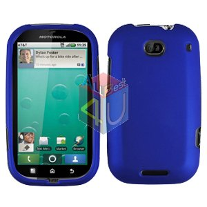 For Motorola Bravo MB520 Cover Hard Case Rubberized Blue