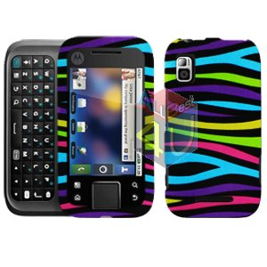 For Motorola Flipside MB508 Cover Hard Case Rainbow