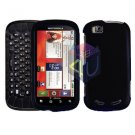 For Motorola Cliq 2 MB611 Cover Hard Case Rubberized Black