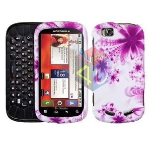 For Motorola Cliq 2 MB611 Cover Hard Case H-Flower
