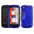 For Motorola Cliq 2 MB611 Cover Hard Case Rubberized Blue