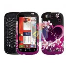 For Motorola Cliq 2 MB611 Cover Hard Case Love