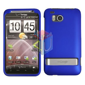 For HTC ThunderBolt Cover Hard Phone Case Rubberized Blue