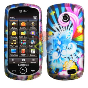 For Samsung Solstice II 2 A817 Cover Hard Case A-Flower